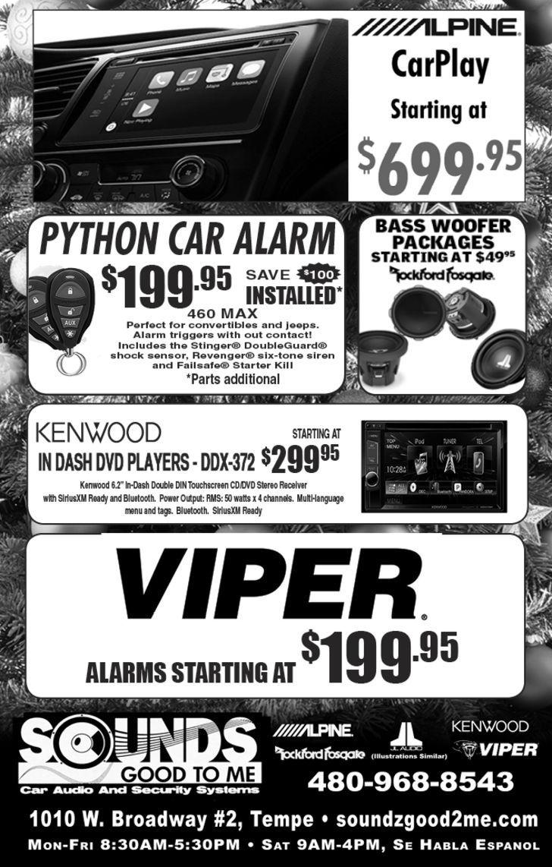 Car Audio Specialists Near Me >> Tempe Car Audio, Phoenix Installation, Alpine JL Infinity Clarion Python Kenwood