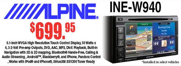 Review of the Alpine INE-W940 Deck, Available in Tempe AZ near Phoenix, Arizona