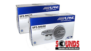 "Alpine SPS-M600 Marine 6.5"" Co-axial Speakers available in Tempe Arizona at Sounds Good To ME"