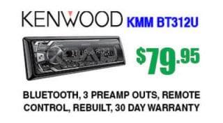 Kenwood KMM-BT312U digital receiver with Bluetooth