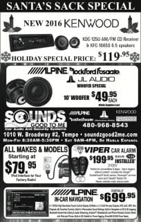 Sounds Good To Me 2015 Christmas Sale and Specials in Tempe Arizona