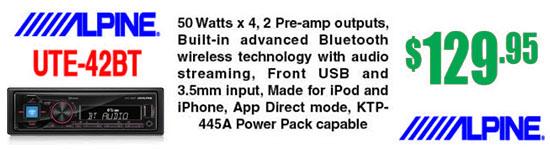 UTE-42BT Advanced Bluetooth® Mech-less Digital Receiver, available at Sounds Good To Me in Tempe, AZ near Phoenix Arizona