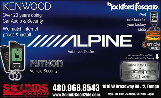 Sounds Good To Me: Car Audio And Security Sytems in Tempe Arizona