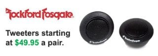 Roxford Fosgate Tweeters starting at $49.95 a pair at Sounds Good To Me in Tempe, Arizona