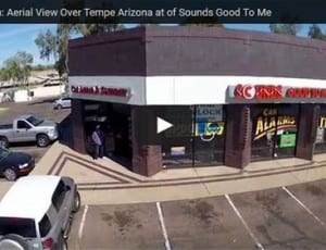 Drone Cam: Aerial View Over Tempe Arizona at of Sounds Good To Me